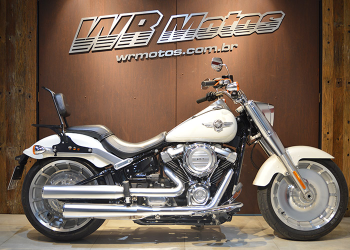 FAT BOY FLFB – Branco – HARLEY-DAVIDSON